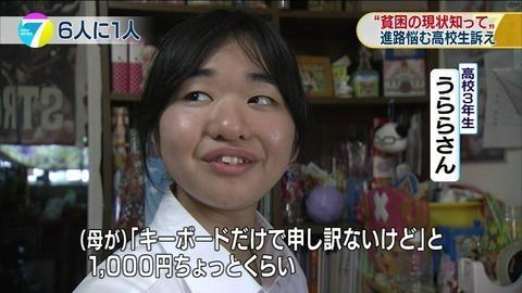 NHK貧困女子高生うららの本名-高校-住所-ツイッターが特定!片山さつきが斬る