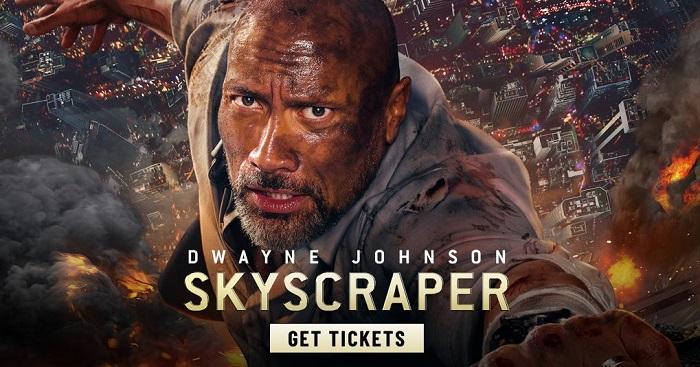 超あらすじ!映画スカイスクレイパーのクレーンからのジャンプのあらすじ