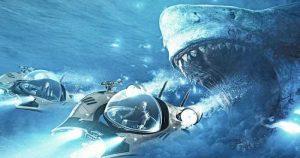 小型潜水艦での水中戦